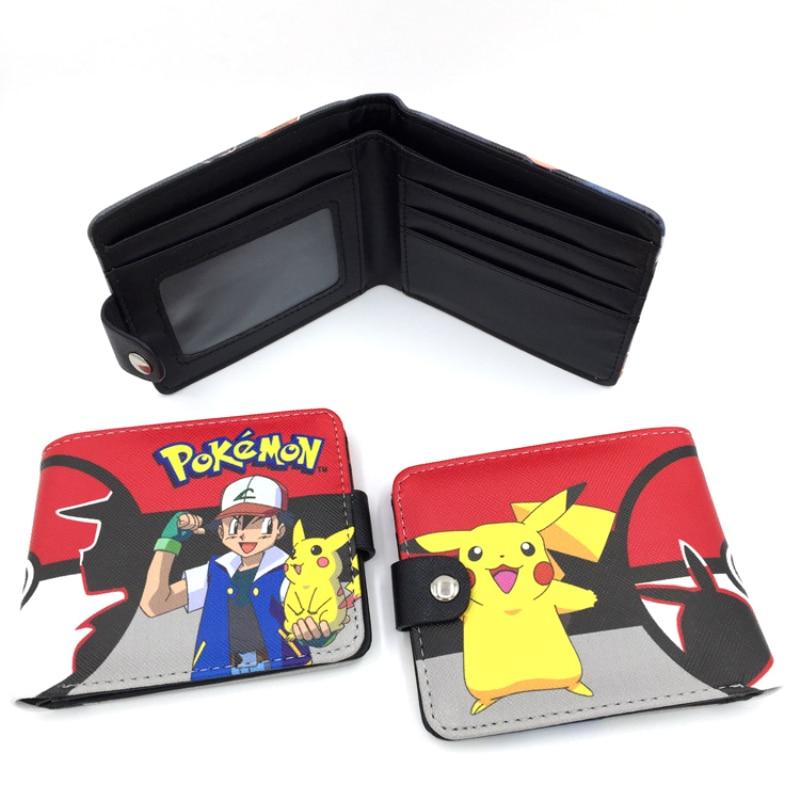 New Design Hasp Wallets Cute Pokemon Go Wallet Pocket Monster Purses Pikachu Wallets Cartoon Children Best Present Wallets