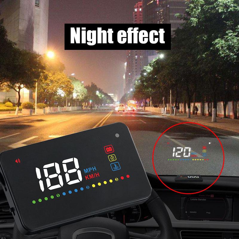 Vehemo 12 В HUD приборная панель безопасности HUD Дисплей Авто HUD Дисплей для навигации OBD приборная панель для износ автомобиля