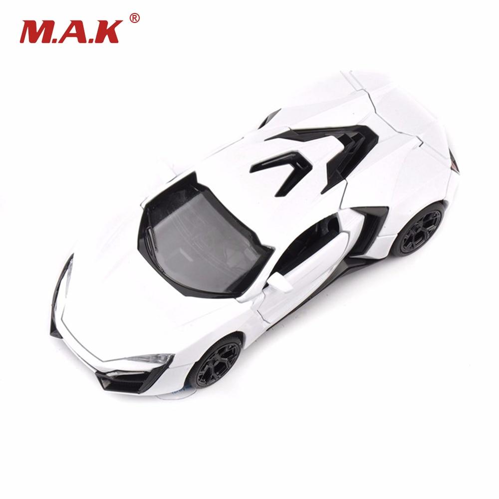 1/32 мащаб автомобил модел играчки бял цвят сплав Diecast Lykan Hypersport модел автомобил бърз и яростни 7 със светлина и звук подаръци Coll
