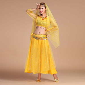 Image 3 - Luxury Indian Dance Costumes Sets Stage Performances Dress Orientale Belly Dance Costume Set For Women Oriental Dance Costumes