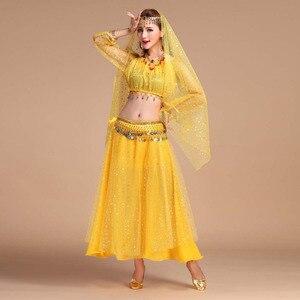 Image 3 - 高級インドダンス衣装セットステージ公演dress orientaleベリーダンス衣装セット用女性オリエンタルダンス衣装