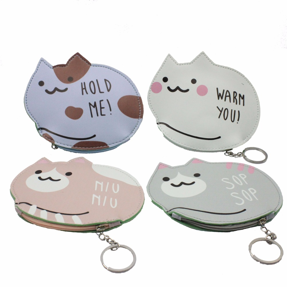 M007 Creative Women Coin Purses Cute Cats Bears Fruits Carrots A small Coin Bag Key Buckle Many Styles For You To Choose From