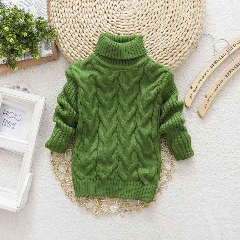 Menino menina torcido camisola da criança meninas bottoming camisola de gola alta pullovers criança moda crianças grossas malhas camisolas de inverno