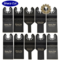 Free Shipping 10pcs Mixed Oscillating MultiTools Plunge Saw Blades Wood Cutting,Metal cutting with free shank adapter