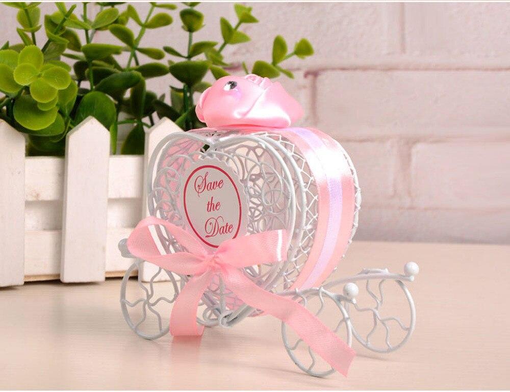 Candy-Box Pumpkin-Carriage Wedding-Party-Favor European For DIY Gifts Romantic Heart-Shape