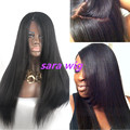 Italian Yaki Straight Silk Top Glueless Full Lace &lace front Hair Wigs For Black Women  Lace Front Wig Synthetic Wigs free part