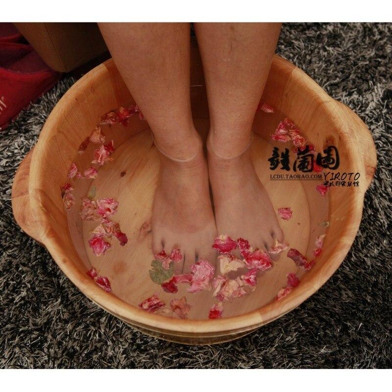 Cedar wood tub solid wood bucket foot bath tub-in Foot Care Tool ...