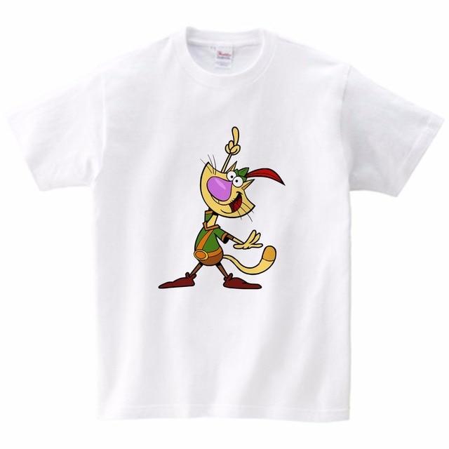 ¡Novedad de 2020! Camiseta para niños pequeños y medianos de tendencia, camiseta de verano con estampado de gato y Niña