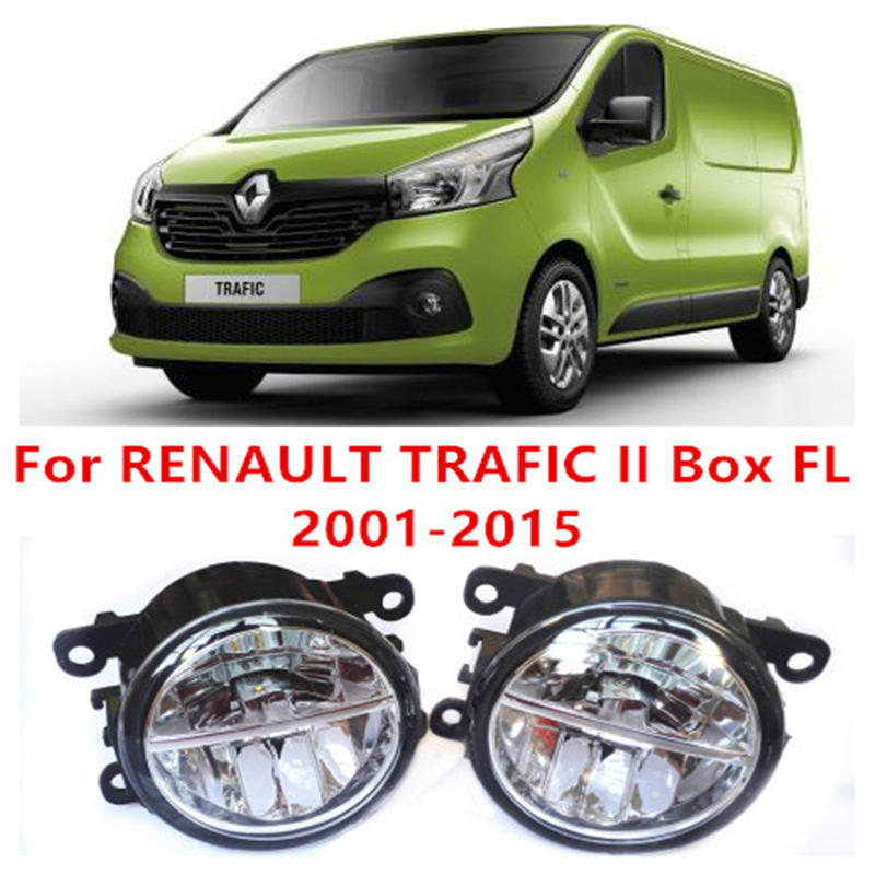 ФОТО For RENAULT TRAFIC II Box FL  2001-2015 Fog Lamps LED Car Styling 10W Yellow White 2016 new lights