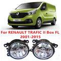 Para RENAULT TRAFIC II Caja FL 2001-2015 Faros Antiniebla LED Car Styling 10 W Amarillo Blanco 2016 nuevo luces