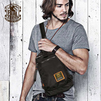 Ruil Fashion Trend Oxford Cloth Man Bag Top Quality Chest Pack Travel Small Bag Vintage Crossbody
