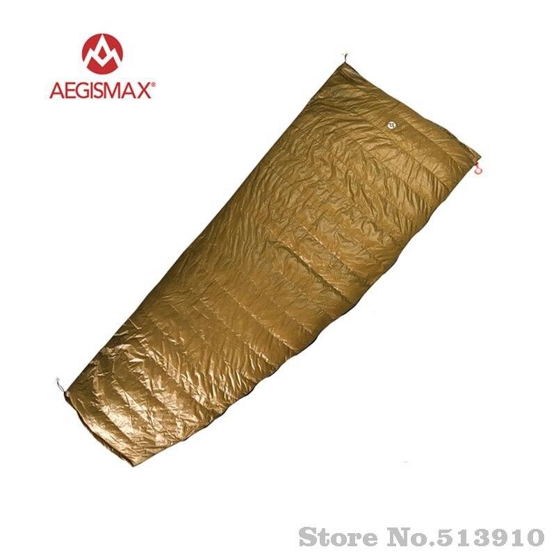 AEGISMAX Outdoor Envelope 95% White Goose Down Sleeping Bag M 190*78cm/L 200*82cm Camping Hiking Equipment FP800 M L