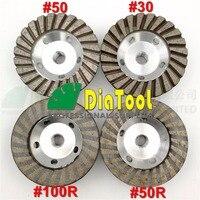 DIATOOL 1 stück Durchmesser 4 zoll 5/8-11 Gewinde Aluminium-Basis Diamant-schleif Tasse Fine Schleifscheibe Mit Große Finishing