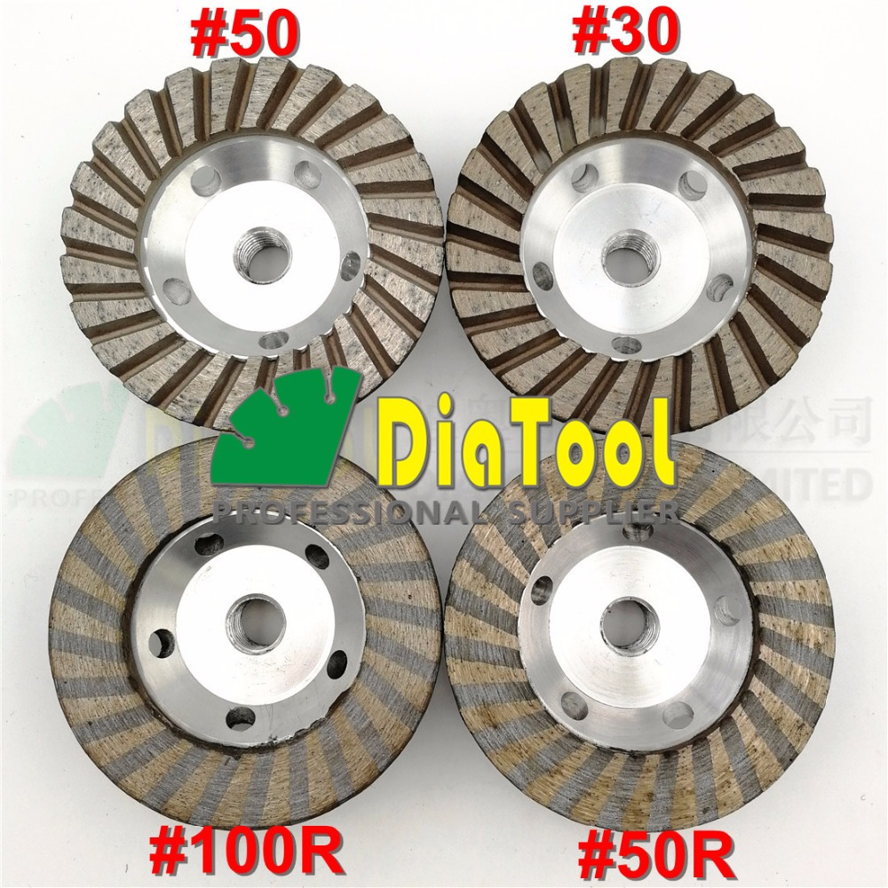 DIATOOL 1pc Diameter 4 inch 5/8-11 Thread Aluminum Based Diamond Grinding Cup Fine Grinding Wheel With Great FinishingDIATOOL 1pc Diameter 4 inch 5/8-11 Thread Aluminum Based Diamond Grinding Cup Fine Grinding Wheel With Great Finishing