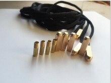 LEEMEIMEI 4pcs Luxury Metal Aglet Shoelace Screw Replacement (LMMY02)