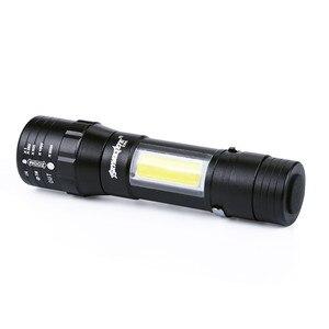 Image 3 - מיני פנס Zoomable LED לפיד XPE Q5 לפיד אור COB LED מיני פנס 14500/AA 4 מצבי כיס לפיד פנס
