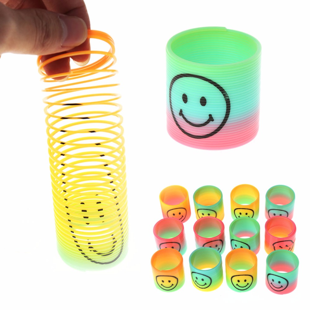 36pc Funny Novelty Mini Colourful Rainbow Spring Kids Toy Decompression Toy