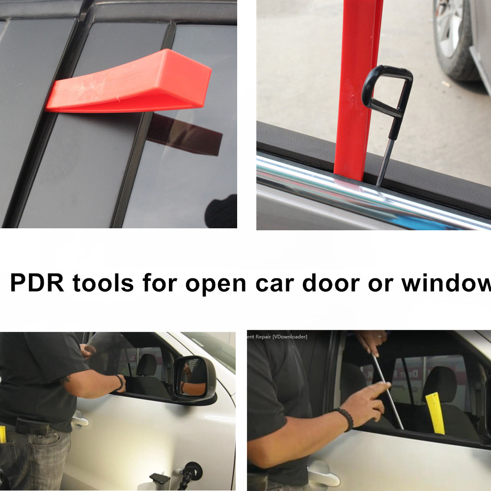 Car Repair Tool-Car Door Window Wedge Panel Paintless Dent Removal Repair Tool Red