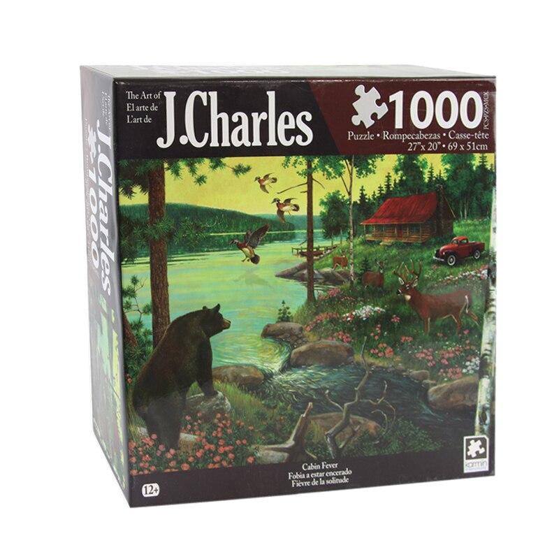 J. Charles La Fièvre de La Cabine Puzzle (1000-piece) Puzzles Noctilucent Jouets Éducatifs Pour Enfants Adulte Puzzles