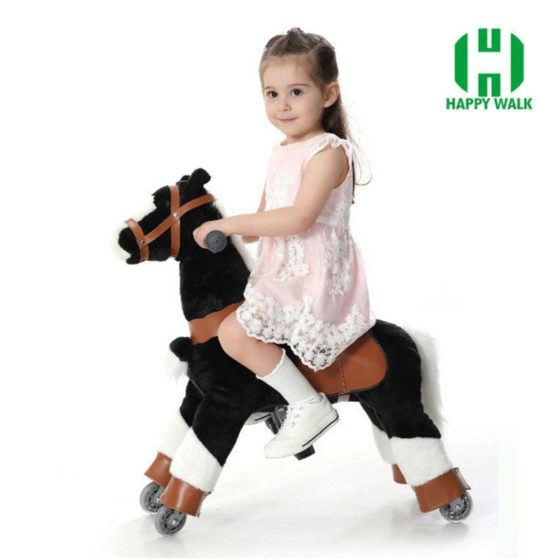 Peluche marche mécanique cheval jouets pour 3 7 ans enfants taille S enfant équitation poney jouet sur roues monter sur cheval à vendre-in Jouets animaux à bascule from Jeux et loisirs    2