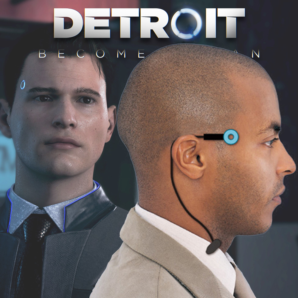 Detroit : Become Human Led Light Cosplay Connor RK800 Wireless Temple Status Light Halloween Party Props