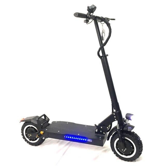 FLJ Новые 11 дюймов колесо внедорожника 60 V/3200 W электрический самокат для взрослых мощный e скутер, Электрический электросамокат
