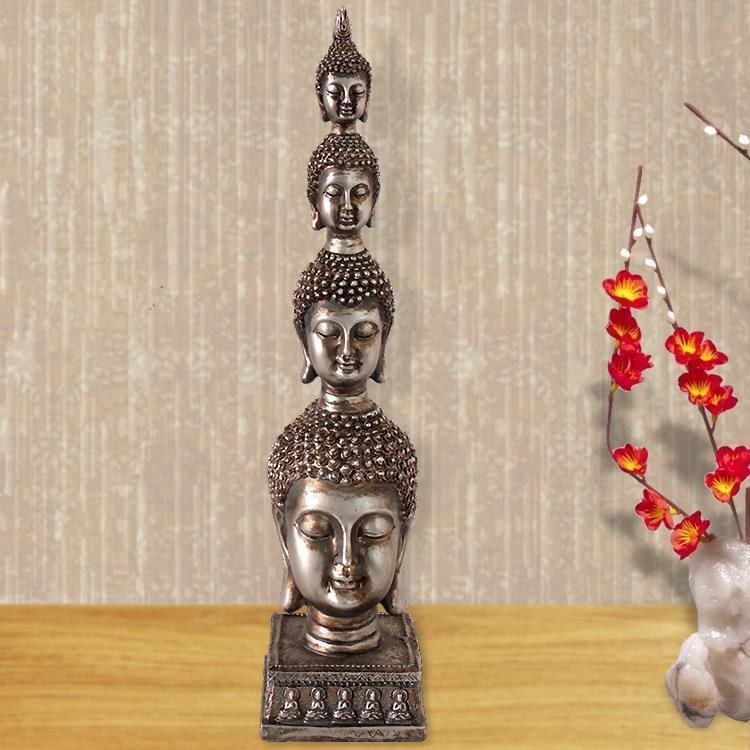 Thailand Buddha, adornment, Sculpture, Buddha head ornaments, Southeast Asian style, resin crafts, home decor, buddhism figure