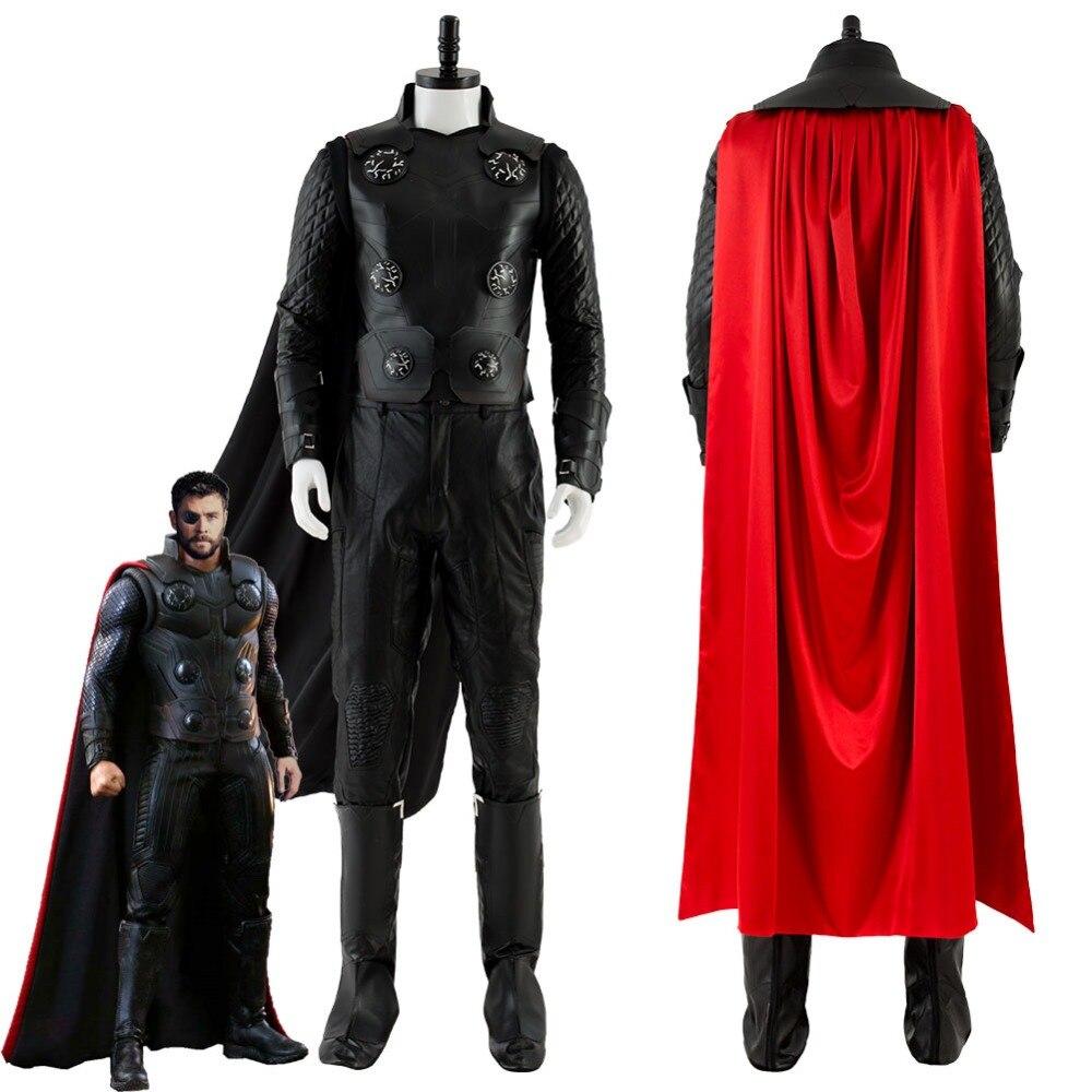 Avengers Infinity Guerra Thor Costume Cosplay loki Costume Adulto Uomini Donne di Halloween Costumi di Carnevale con Scarpe Su misura