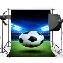 Football Field Backdrop Stadium Stage Lights Crowd Bokeh Twinkle Starry Night Green Grass Meadow Sports Photography Background