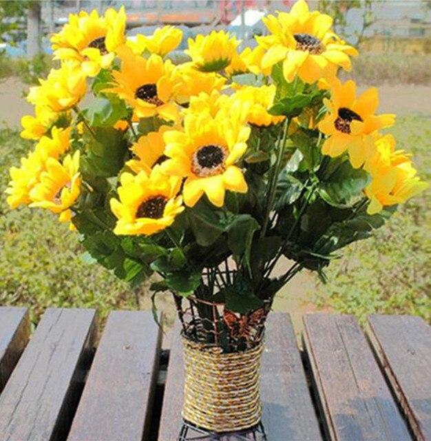 2017 7 heads 1 bouquet sunflower artificial posy flower silk flowers 2017 7 heads 1 bouquet sunflower artificial posy flower silk flowers phantom simulation diy home decoration mightylinksfo