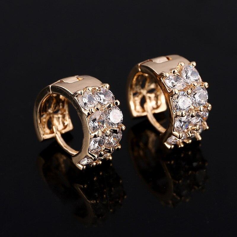 Hesiod Style Micro Paved AAA Zircon Earrings