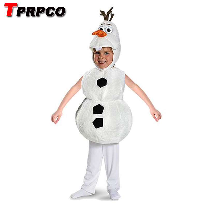 TPRPCO Children Plush Adorable Child Halloween Olaf Costume For Toddler Kids Cartoon Movie Christmas Snowman Party Dress-up 137