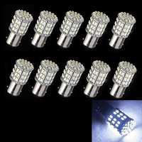 Hot Sales 10Pcs BAY15D 1157 Car Tail Stop Brake Light Super Bright 64 SMD LED Bulb