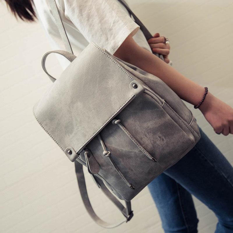 New Arrival Summer Women Backpacks Canvas College Bags For Teenage Girls Ladies' Travel Backpack Black Pink School Bags #4