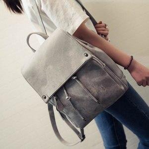Image 4 - 2020 yeni varış yaz kadın sırt çantaları tuval okul çantaları genç kızlar için bayan seyahat sırt çantası siyah pembe okul çantaları