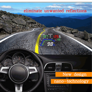 """Image 5 - Universal NEW Q7 5.5"""" Multi Color Auto Car HUD GPS Head Up Display Speedometers Overspeed Warning Dashboard Windshield Projector"""