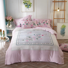 DIFUNINA Soft Tencel Bedding Sets Luxury 3d Plant Printing 4-pcs Linens Include Duvet Cover Pillowcase Bed Sheet Lin