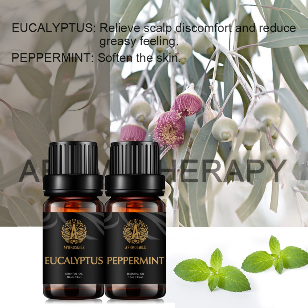 2 Aromas / Set Pure Natural Essential Oils Peppermint Essential Oil Jasmine Oil Water-soluble Massage Oil Multiple Sets Optional