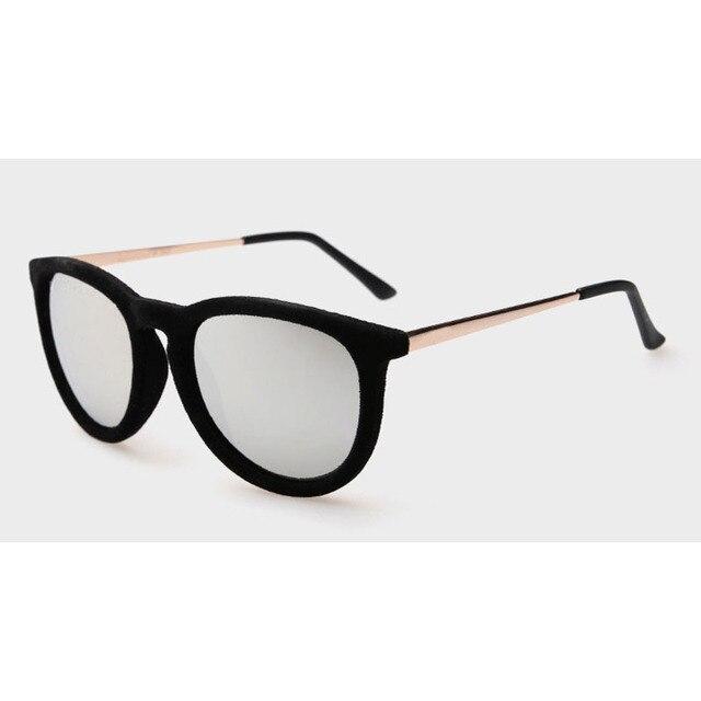 Retro das senhoras Das Mulheres do sexo feminino de veludo Cor óculos de sol  do olho a08fb046eb