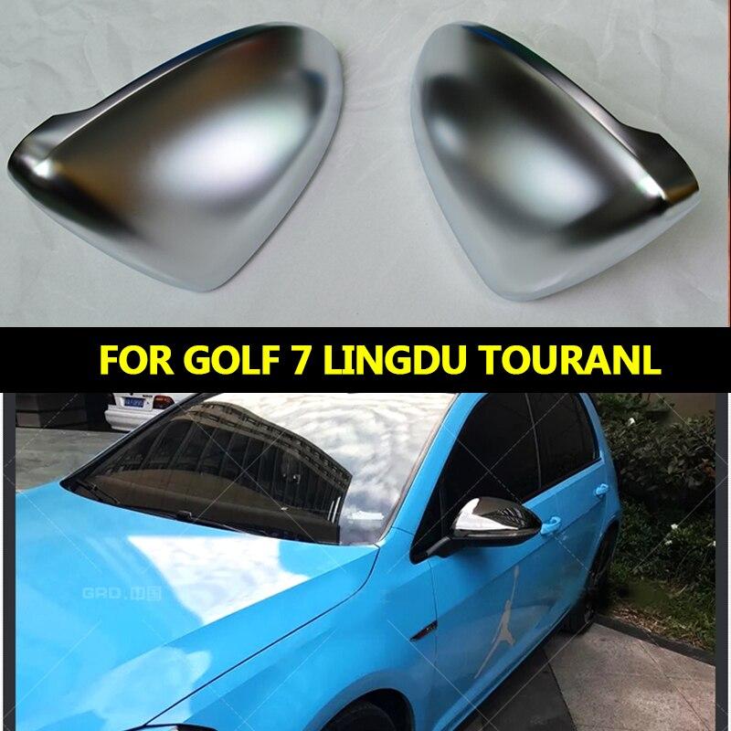 GZ Sportline For Volkswagen Golf7 MK7 7.5 GTI7 R R20 Golf 7 Lingdu TouranL Matte Chrome Side Wing Mirror Covers Satin capsGZ Sportline For Volkswagen Golf7 MK7 7.5 GTI7 R R20 Golf 7 Lingdu TouranL Matte Chrome Side Wing Mirror Covers Satin caps
