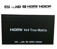 HDMI 4x4 правильная матрица Full HD 4 к 2 к HDMI переключатель сплиттер 4 вход 4 выход 3D 1080 P HDCP правильная матрица конвертер + AC адаптер питания