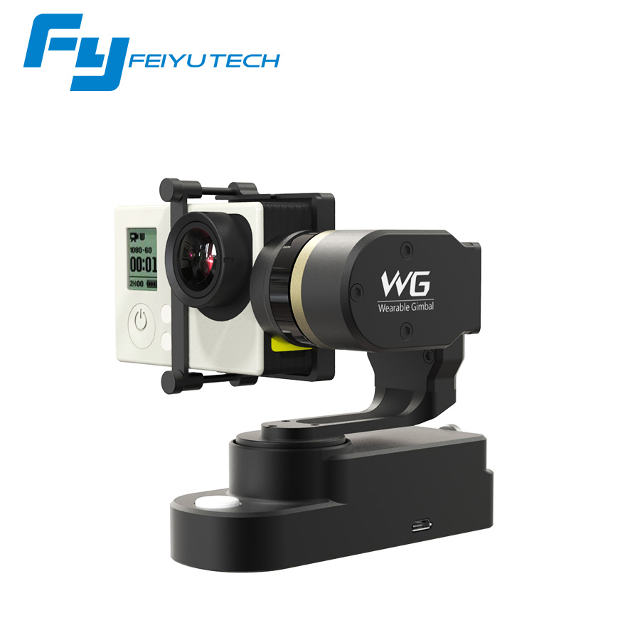 FeiyuTech FY WG 3 axis wearable gimbal for Gopro HERO4 / HERO3+ / HERO3 and other similar action camera stabilizer feiyu fy wg lite wearable gimbal affordable single axis gimbal stabilizer for gopro hero3 3 4 camera