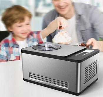 1.5L Fully Auto Ice Cream Maker Household Stainless Steel Fast Freezing Homemade Ice Cream Device Mini Ice Cream Machine IC2308C free ship by sea fast freezing roll thailand fry ice cream machine double pan