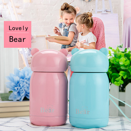New Korean Lovely Bear Vacuum Cup Tea Coffee stainless steel Thermos Food Jar Thermal Container Insulated Soup Holder 30oz stainless steel vacuum insulated thermos travel tumbler camp cup beer cup coffee mug