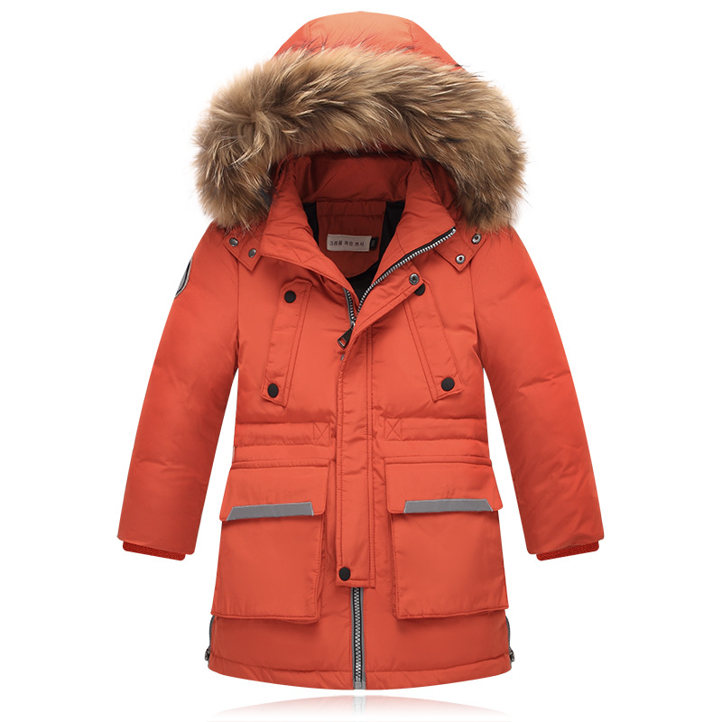 4-14Y Winter Children Down & Parkas Kids Outerwear Thicken Boys White Duck Down Jacket And Long Down Jacket Age 10-16T 2016 winter children warm thick snow proof coat baby boys white duck down jacket vest kids casual long style outerwear parkas