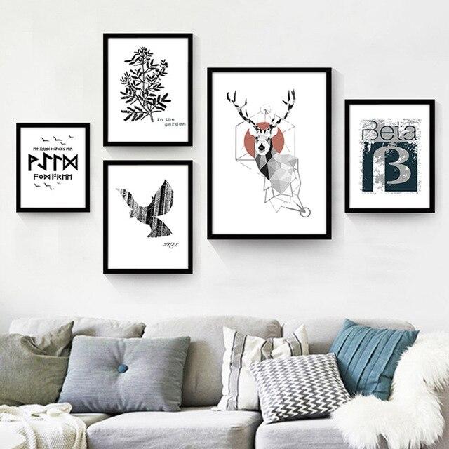 Le salon parure minimaliste moderne canapé toile de fond peintures ...