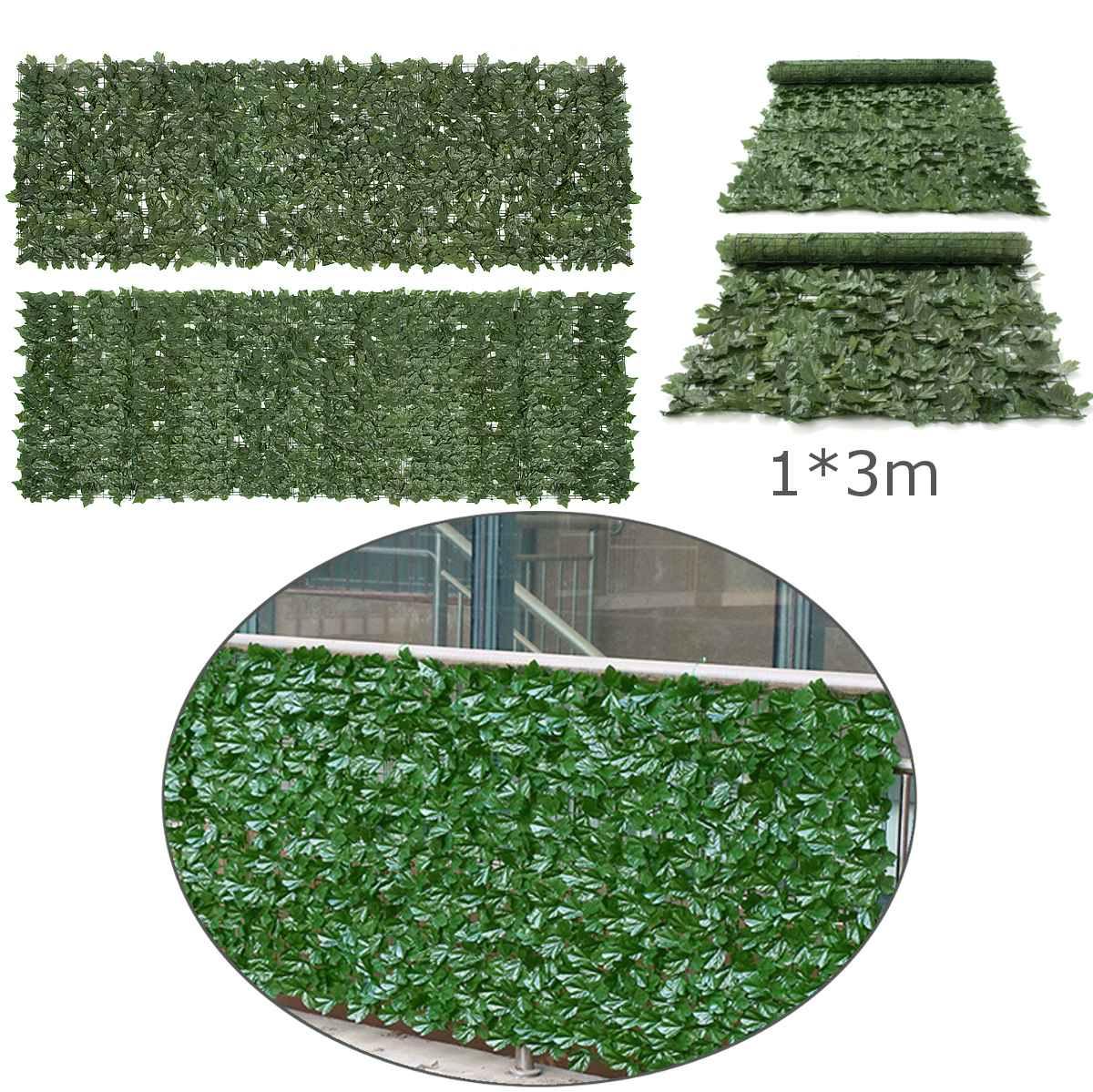 100x300 cm herbe verte gazon artificiel plantes ornement de jardin pelouses en plastique tapis mur balcon canne clôture pour la décoration intérieure