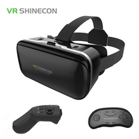 Original VR Shinecon 6 0 Virtual Reality Glasses Cardboard VRBOX Helmet For 4 3 6 0