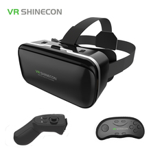 Original VR Shinecon 6.0 Virtual Reality Glasses Cardboard VRBOX Helmet For 4.3-6.0 inch Smartphone With Wireless Controller
