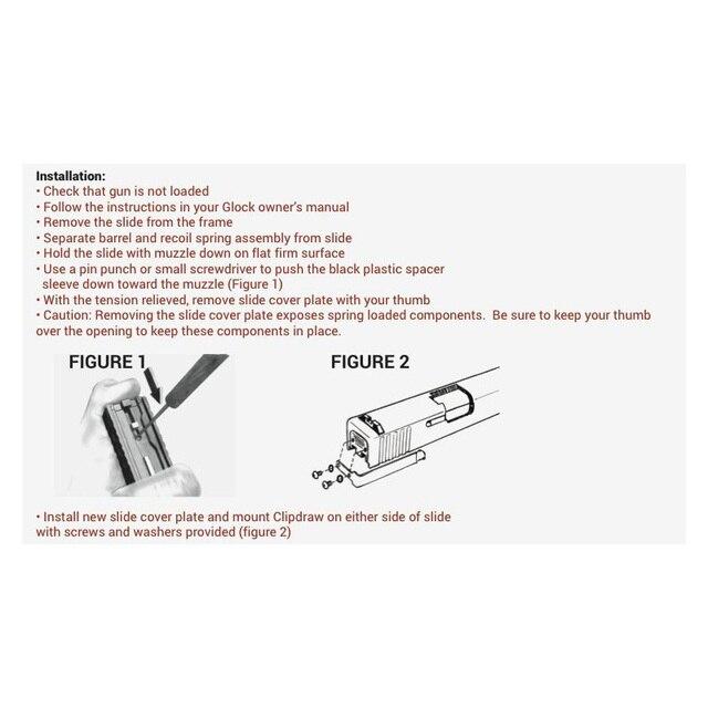 Concealed Carry Belt Clip Holster for Glock 1 Gen Part Fits Models 17 19 22 23 24 25 26 27 28 30S 31 32 33 34 35 36 4